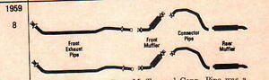 1959 Buick Invicta Lesabre Dual Exhaust Aluminized Without Resonators
