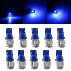 T10 5 Smd X 20 Led Blue Interior Super Bright Car Lights Bulb W5w 194 168 2825