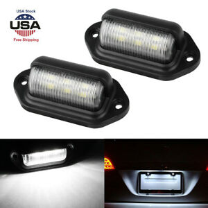 Universal 6 smd Led License Plate Tag Light Lamps For Truck Suv Trailer Van Us