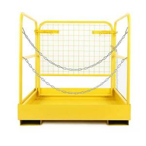 749lbs Capacity 36 x36 Heavy Duty Forklift Safety Cage Steel Work Platform