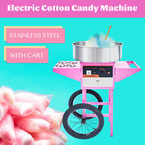 Electric Cotton Candy Machine Pink Sugar Floss Commercial Maker Party Carnival
