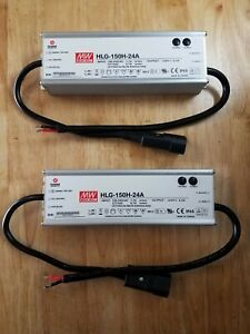 2 mean Well Hlg 150h 24a Led Driver Power Supply With Preinstalled Power Cord