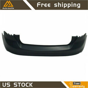 New Primered Rear Bumper Cover Fit For 2012 2013 2014 Ford Focus Sedan