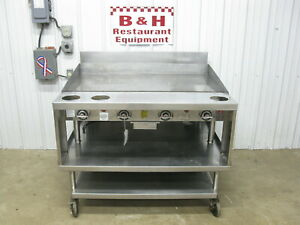 Vulcan 48 948rx Natural Gas Thermostatic Flat Top Griddle Grill 4 W Stand
