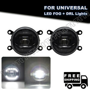 Fits For Jeep Ford Land Rover Universal Led Fog Light Drl Daytime Running Lamp