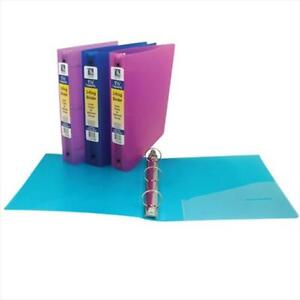 C line Products 31720bndl6ea 3 ring Poly Binder 1 5 Inch Capacity Color Ma