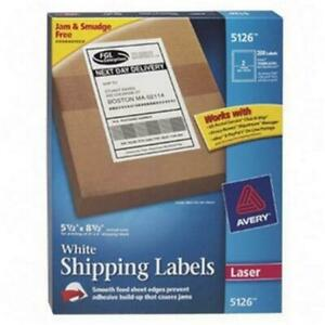 Avery Dennison White Shipping Labels 5 5 Inch X 8 5 Inch 200 Label Shipping L