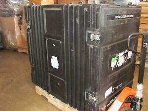 Large Abex Shipping Crate With Wheels Heavy Duty Freight Travel Show Case