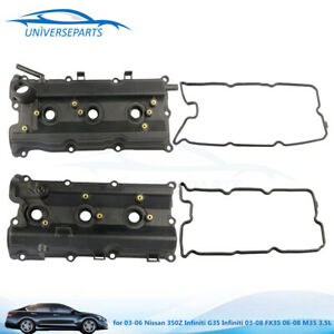 2pcs Left Right Engine Valve Cover For 03 06 Nissan 350z Infiniti G35 3 5l New