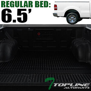 Topline For 2004 2014 Ford F150 6 5 Feet Rubber Truck Bed Trunk Mat Liners Blk