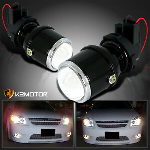 H3 Clear Glass Lens Projector Fog Lights Driving Lamps Kit brackets Left right