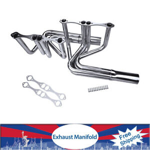 Exhaust Manifold Headers For Eh 117 V8 Chevy Block 265 400 T Bucket Roadster Us