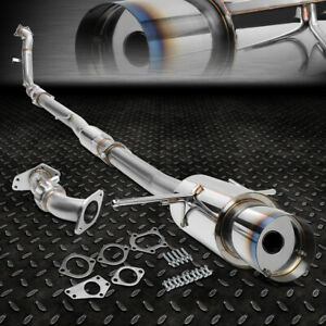 For 02 07 Wrx sti Gd gg 4 5 Burnt Tip Racing Turbo Catback down up Pipe Exhaust