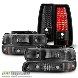 Smoke 1999 2002 Chevy Silverado Headlights Headlamps led Tail Lights Brake Lamps