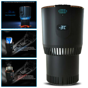 Car Heating Cooling Cup Holder 2 in 1 Office Cup Warmer Cool Smart Truck Cup 12v