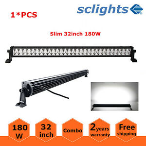 32 inch 180w Led Light Bar Flood Spot Combo Driving Offroad Ute 4wd Fog Boat 33