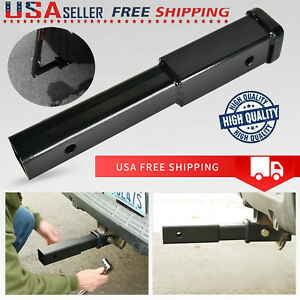 Pin Hole Towing 8 Trailer Hitch Extension For 2 Receiver Extender 5 8 In