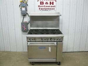 Imperial Ir 6 Six Burner Natural Gas Range Stove W Oven