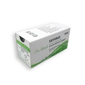 3 0 Training Surgical Sutures Nylon Monofilament Pack Of 12 Sterile