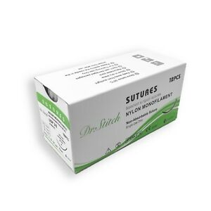 2 0 Training Surgical Sutures Nylon Monofilament Pack Of 12 Sterile