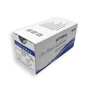 4 0 Training Surgical Sutures Silk Braided Pack Of 12 Sterile
