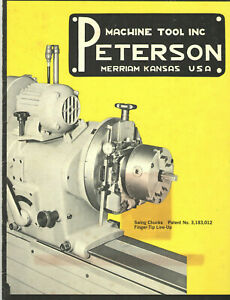 Vintage 1960s Peterson Machine Tool Catalog Merriam Ks For The Auto Industry