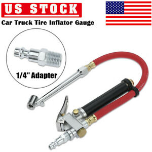 Car Tire Inflator 10 120 Psi Gauge Automobiles Tire Pressure Gun W 12in Hose