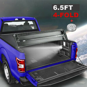 6 5 Ft 4 Fold Truck Bed For 15 20 Ford F 150 Pickup Waterproof Tonneau Cover