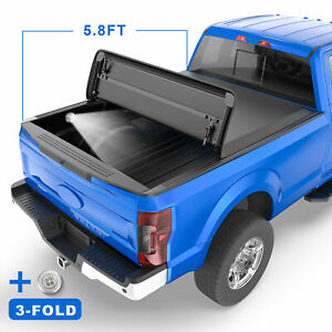 5 7ft 5 8ft Tri fold Truck Bed Tonneau Cover For 2009 19 Ram 1500 Pickup No Box