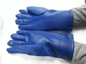 X ray Protection Protective Lead Gloves Imported Material Blue Free Shipping