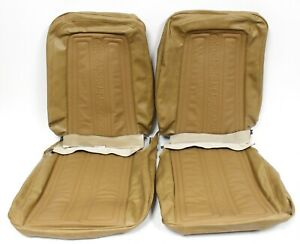 1969 1970 Chevy Truck C10 C20 C30 Bucket Seat Covers Saddle Tan New Clearance