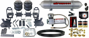 Air Helper Spring Tow Over Load Kit Gauge Tank Fits 1999 2004 Ford F250 F350