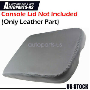 New Center Console Armrest Real Leather Cover For Dodge Ram 2002 2008 Gray