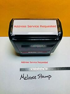 Address Service Requested Self Inking Rubber Stamp Red Ink Ideal 4913