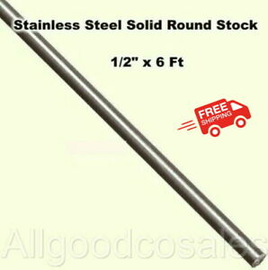 Stainless Steel Solid Round Stock 1 2 X 6 Ft 416 Unpolished Rod 72 Length