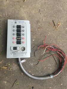 Control Panel 30 amp 10 circuit Transfer Switch