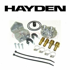 Hayden Oil Filter Remote Mounting Kit For 2000 Cadillac Escalade Engine Vl