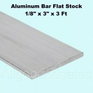 Aluminum Bar Flat Stock 1 8 X 3 X 3 Ft Unpolished 6061 Alloy 36 Length