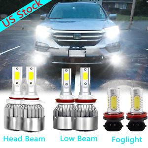 For Honda Pilot 2006 2018 Combo Led Headlight High Low Beam Fog Light 6x Bulbs