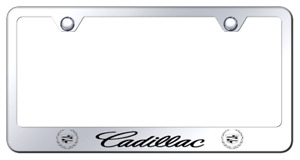 Cadillac Laser Etched Logo License Plate Frame Mirror Chrome Finish