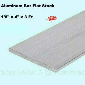 Aluminum Bar Flat Stock 1 8 X 4 X 3ft Unpolished Alloy 6061 36 Length