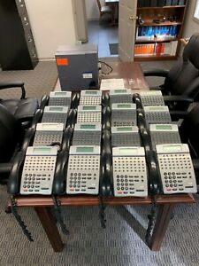 Nec 32 Button Office Phone System 16 Phones And Unit