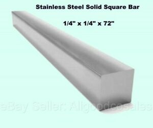 Square Stock 304 Stainless Steel 1 4 X 1 4 X 72 Solid Square 6ft Long Bar