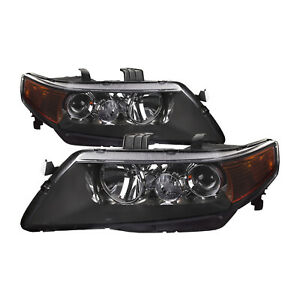 Headlight Set Left Right Pair W o Hid Kit Fits 2004 2005 Acura Tsx