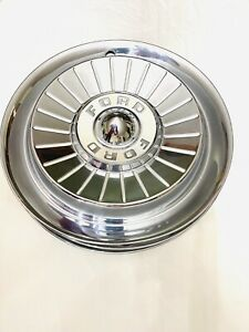 57 Ford Galaxie Hubcaps Great Shape 14 Inch