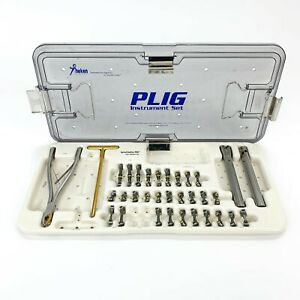 Theken Surgical Plig Instrument Set Spiral Radius 90d Cross Connector Tray