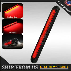 10 Inch Sealed Truck Rv Trailer Light Bar Led Third Brake Lights Strip Red