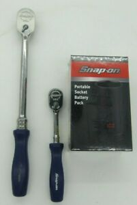 New Snap on Thld72 Fhld80 Combo Set Purple Long Ratchets W Free Battery Pack