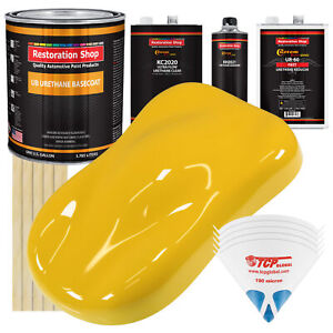 Indy Yellow Gallon Urethane Basecoat Clearcoat Auto Paint Fast Kit