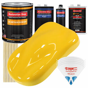 Sunshine Yellow Gallon Urethane Basecoat Clearcoat Car Auto Paint Fast Kit